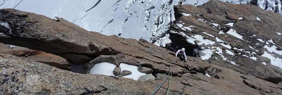No.058 Granite climbing Mont Blanc Group